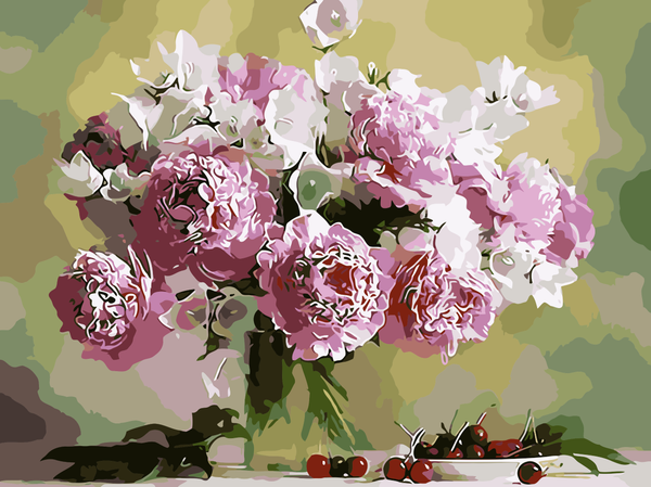 Peony Diy Paint By Numbers Kits WM-667