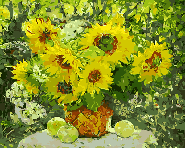 Sunflower Diy Paint By Numbers Kits WM-763