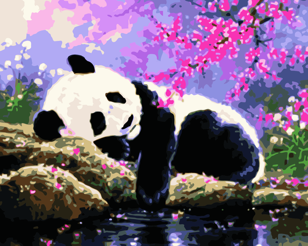 Lovely Panda Diy Paint By Numbers Kits WM-854