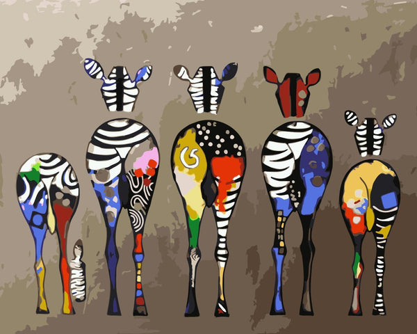 Zebra Diy Paint By Numbers Kits WM-881