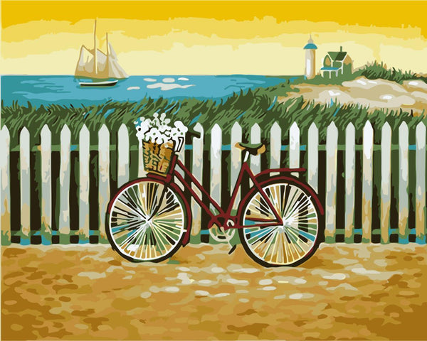 Bicycle Diy Paint By Numbers Kits WM-936 ZXB602-26