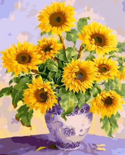 Sunflower  Diy Paint By Numbers Kits ZXQ1568