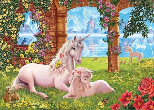 Unicorn Diy Paint By Numbers Kits UK VM96130