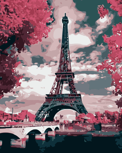Landscape Eiffel Tower Diy Paint By Numbers YM-113