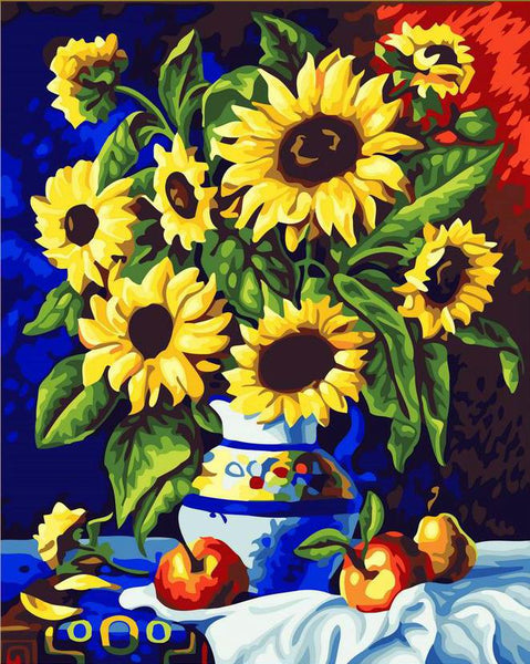 Sunflower Diy Paint By Numbers Kits YM-4050-019-ZXB145