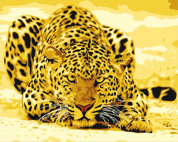 Leopard Diy Paint By Numbers Kits YM-4050-047
