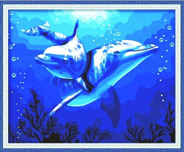 Dolphin Diy Paint By Numbers Kits YM-4050-053