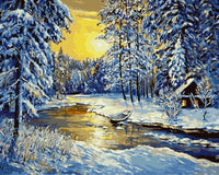 Landscape Snow Forest Diy Paint By Numbers Kits YM-4050-072