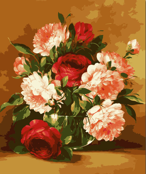 Peony Diy Paint By Numbers Kits YM-4050-172