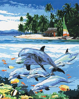 Dolphin Diy Paint By Numbers Kits ZXZ-088