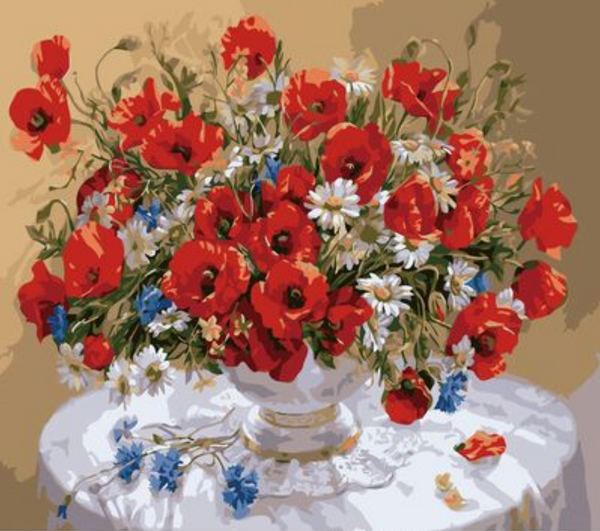 Poppy Flower Diy Paint By Numbers Kits ZXZ-107