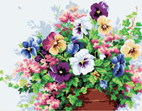 Plant Colorful Flowers Diy Paint By Numbers Kits PBN00134