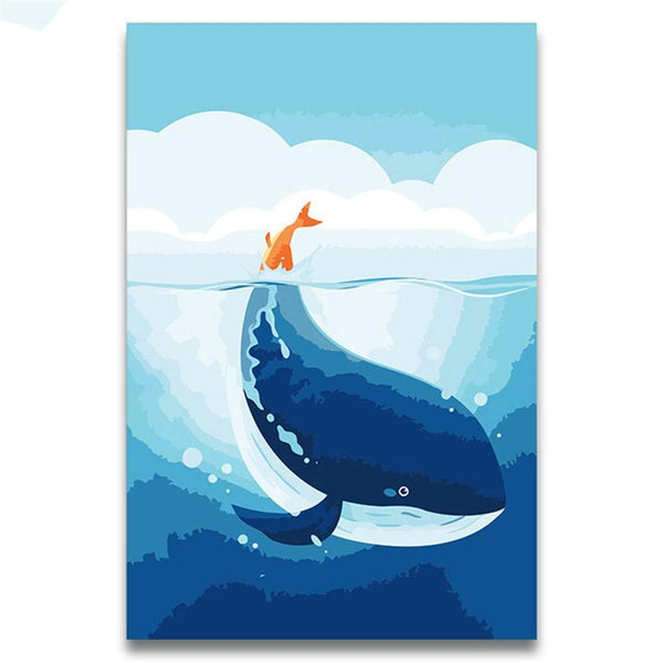 Whales Diy Paint By Numbers Kits PBN30004