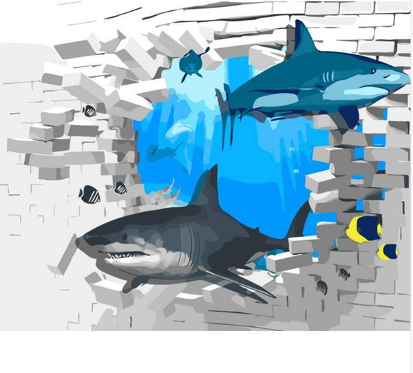 Shark Diy Paint By Numbers Kits VM30254