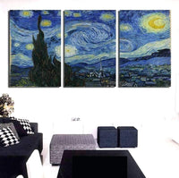 3X Multi Panel Night Sky Diy Paint By Numbers Kits VM90534