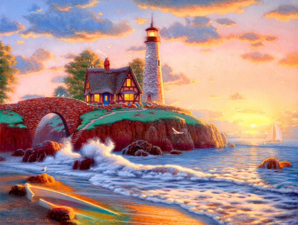Landscape Lighthouse Diy Paint By Numbers Kits PBN91130