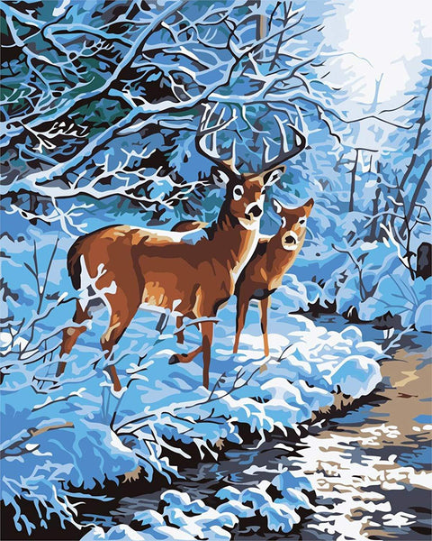 Animal Deer Diy Paint By Numbers Kits PBN92305
