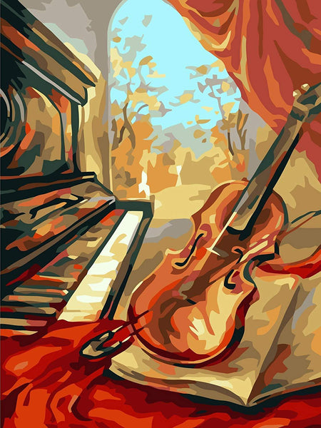 Musical Instrument Diy Paint By Numbers Kits ZXB56