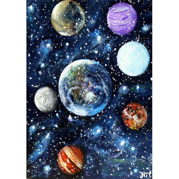 Space Diy Paint By Numbers Kits VM95622