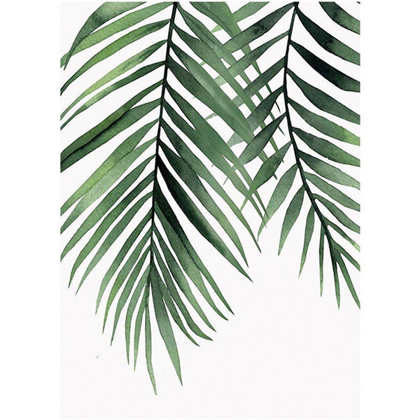 Plant Leaf Diy Paint By Numbers Kits UK VM95894