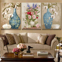 3Pcs Flower Diy Paint By Numbers Kits PBN96365