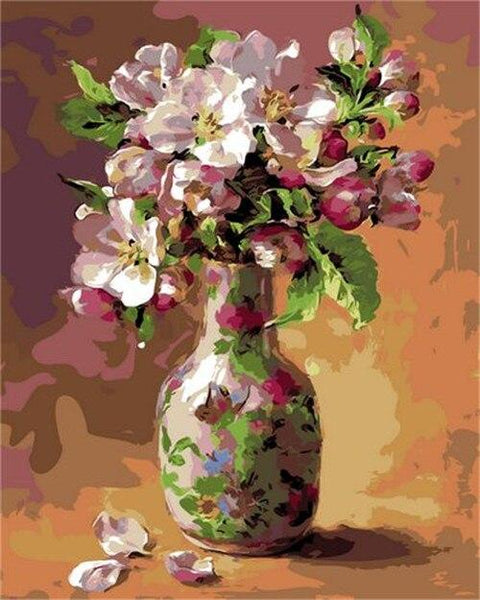 Flower In Bottle Diy Paint By Numbers Kits PBN92478