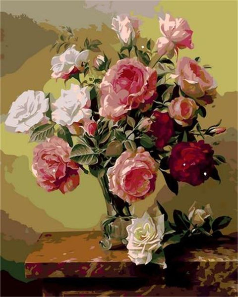 Flower Diy Paint By Numbers Kits PBN95699