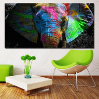 Colorful African Elephant Diy Paint By Numbers Kits PBN97814