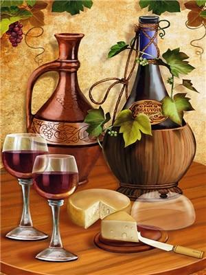 Wine Diy Paint By Numbers Kits VM97506