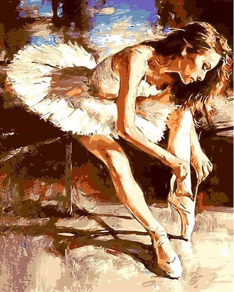 Ballet Dancer Diy Paint By Numbers Kits WM-1100 Q686
