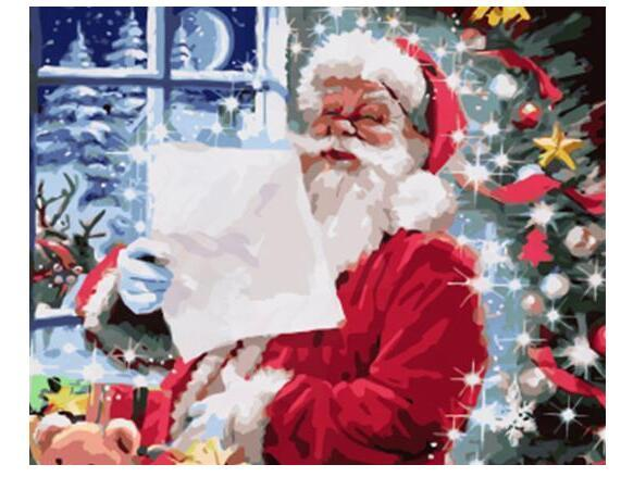 Letter To Santa Claus Diy Paint By Numbers Kits PBN95390