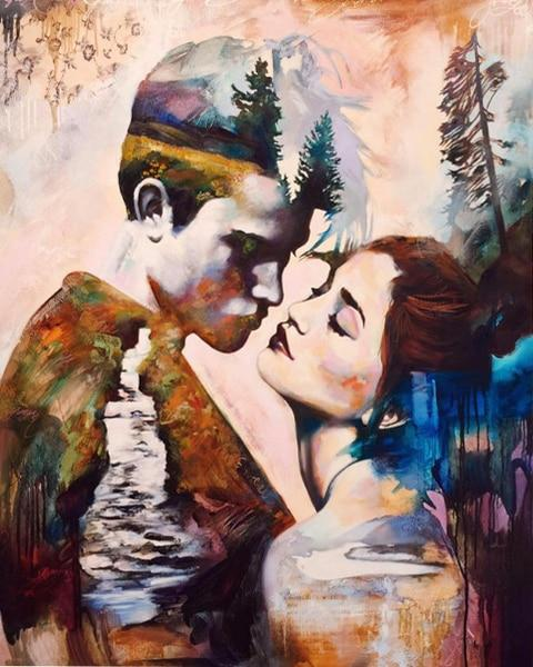 Lovers Portrait Diy Paint By Numbers Kits Uk VM90508