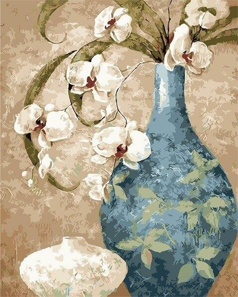 Flower In Vase Diy Paint By Numbers Kits PBN92845