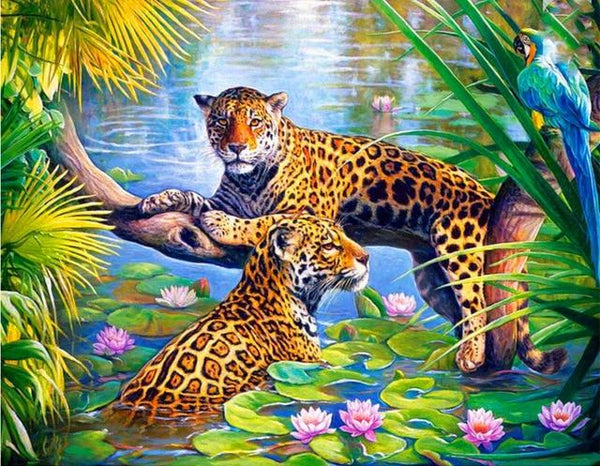 Animals Leopard Paint By Numbers Kits ZXQ2449 VM80006