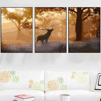 3PCS Multi Panel Paint by Numbers Kits PBN96874