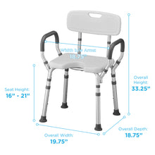Load image into Gallery viewer, Nova Shower Chair with Arms and Back