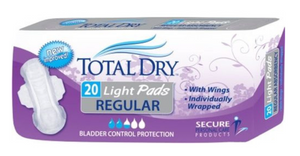Total Dry Light Pads - 20ct