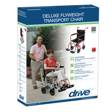 Load image into Gallery viewer, Deluxe Fly-Weight Aluminum Transport Chair with Removable Casters