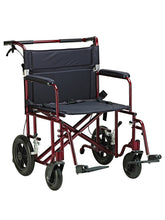 "Load image into Gallery viewer, 22"" Bariatric Aluminum Transport Chair"
