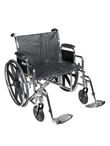 Bariatric Sentra EC Heavy-Duty, Extra-Extra-Wide Wheelchair, Dual Cross Brace