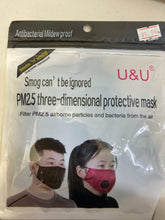 Load image into Gallery viewer, U&U PM2.5 three-dimensional protective mask