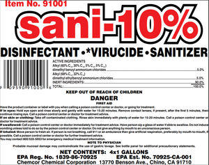 Sani-10 Hospital grade cleaner