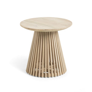 Solid Mindi Wood Side Table