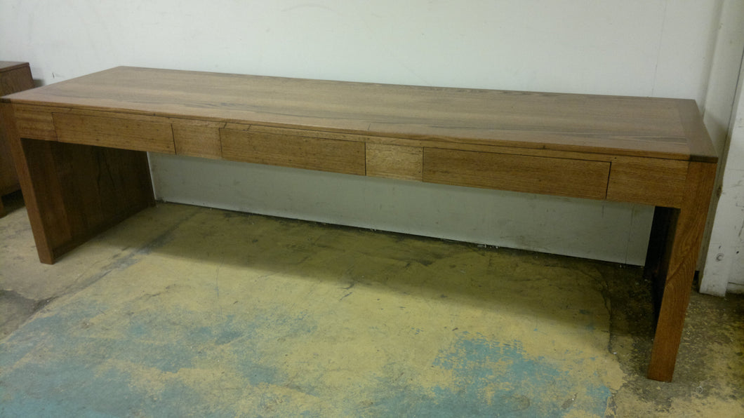 Recycled Timber 3 Drawer Desk