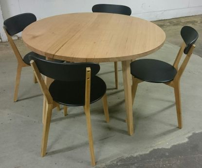 Round Hardwood Dining Table