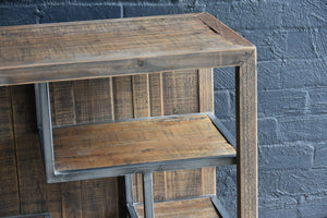 AFT Recycled Timber and Metal Shelving Unit Long