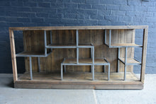 Load image into Gallery viewer, AFT Recycled Timber and Metal Shelving Unit Long