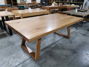 Angled 'U' Base Dining Table