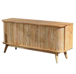 Slatted Hardwood Sideboard
