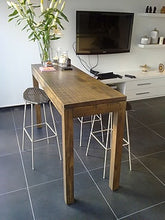 Load image into Gallery viewer, Recycled Timber Bar Table